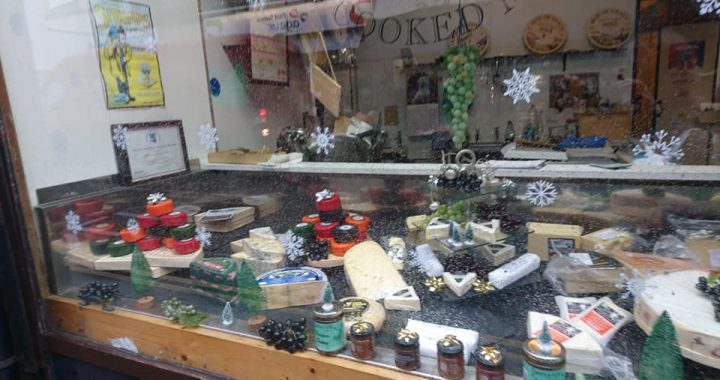 Picture of Cheese Window with Christmas decorations